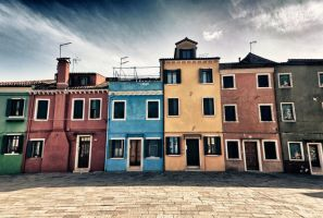 Burano Houses by Stilfoto