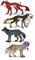 Scene. Wolf. Fox. Adoption 2. CLOSED by MichelsAdoptions