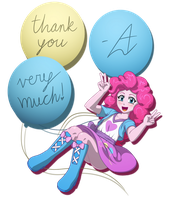 Pinkie Pie: Thanks!!! by AcesRulez13