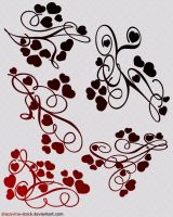 Heart Swirls Brushes by Dracovina-Stock