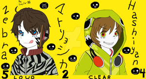 Matryoshka Zebra and Melost by lucila-88