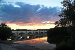 Sunset on the Loire river 2 by ShlomitMessica
