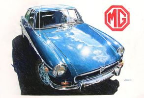 MGB-GT by johnwickart
