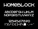 homeblock font by homeaffairs