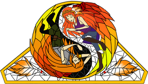 Pheonix Stained Glass Preview by Fireflowermaiden