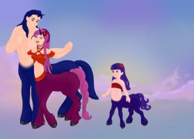 My Family as Centaurs by montey4