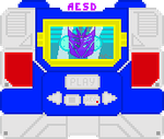 Transformers G1: D-Con Soundwave Alt. Md Pixel Art by AESD