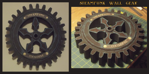 Steampunk Wall Gear by SiriusArtWorks