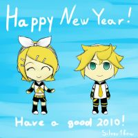 A Kagamine greeting by Silver1bow