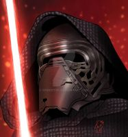 Kylo Ren by Spidertof