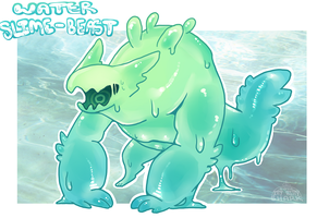 +AU+ Water Slime-Beast (CLOSED) by IttyBittyShark