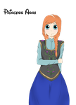 Princess Anna of Arendelle by Munsutaa