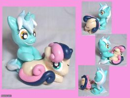 Lyra and BonBon Sculpt- Multiple Views by CadmiumCrab