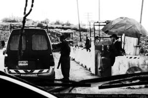 West Bank checkpoint, Palestine 2007 by PretendtoBelieve