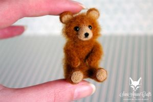 Ginger Teddy Miniature by SaniAmaniCrafts