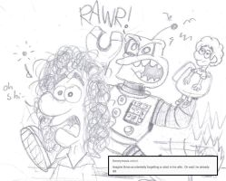 Imagine Brian May 'toon I - Nothin' But A Cyborg by BroodZitSpecialist