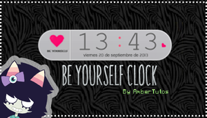 Be Yourself Clock by Waatt