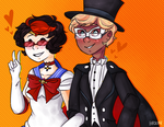 happy halloween from resident nerds zania + silvio by m5w
