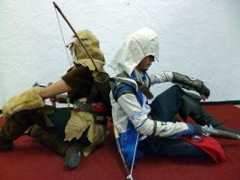 Connor and Fem!Ratonhnhake:ton - Assasins Creed 3 by CheekySuzuki
