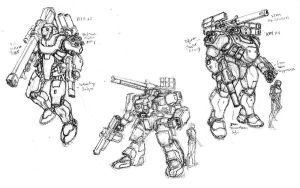 PS, DS Rough Concept Sketches by RyujinDX
