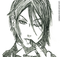 Sebastian Michaelis (Graphite Sketch) by saeglopur12