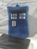 Crochet Tardis DS Lite Case by PerilousBard