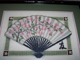 Cross-stitch: Oriental Fan by Kiela-Starcatcher