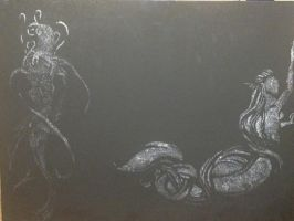 Mermaid scratchboard by Seras22