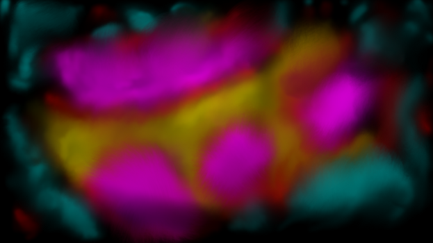 Rainbow particle magnified x ? by SoRabo-Hoovze