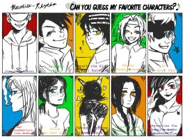 Guess My Favourite Characters? [7/7/2013]*Answers by egadmychips
