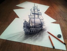 While Sailing Through the Thoughs if my Imaginatio by JJKAirbrush