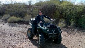 Zak On 4 Wheeler by 75tennis
