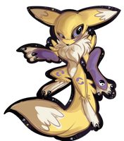 Renamon by Mesmeromania