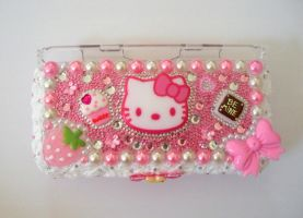Pink Deco DS Lite Case by AmbiguousAngel