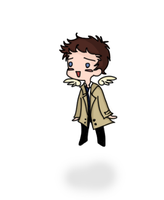 Chibi Cas Flying by musicalirony