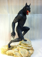 Van Helsing's Velkan Werewolf Statue - Left Side by TheMrWolf