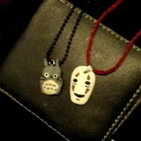 Totoro and No-face by PixieSnuff