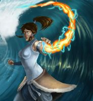 Korra - Avatar State by James-S-Flynn