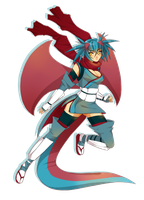 Gijinka Pokedex Project: Salamence gijinka #373 by Miharuruu