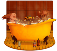 Bubble bath! by Detrah