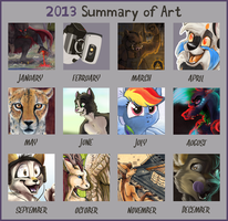 2013 Art Summary by Tsebresos