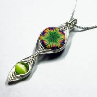 Woven Clay Bead Pendant by Create-A-Pendant