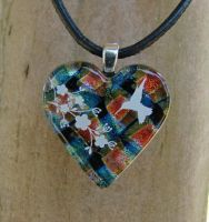 Hummingbird Love Fused Glass by FusedElegance
