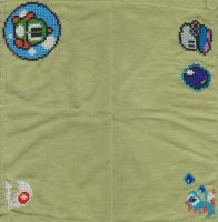 RetroStitch Bubble Bobble Napkin Complete by RetroStitch