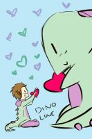 dino love by white-sandman-dreams