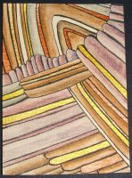 ACEO Abstract Strata 1 by Artwyrd