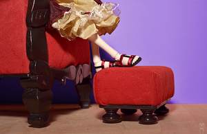 Red Armchair SD size by Katja-dollab