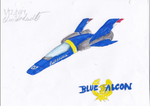 New Blue Falcon by revivedracer209