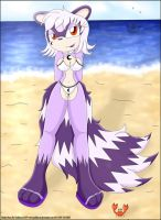 Nataly in the beach -Color by Yasithecat