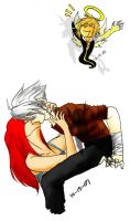 Kartia and Feel. . . And Leon by Black-Saber